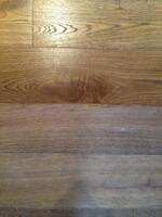 Oak floor - one side cleaned and re-oiled