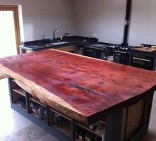 Unusual slice of tree as a bespoke worktop!