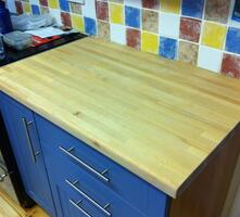 Beech worktop after re oiling
